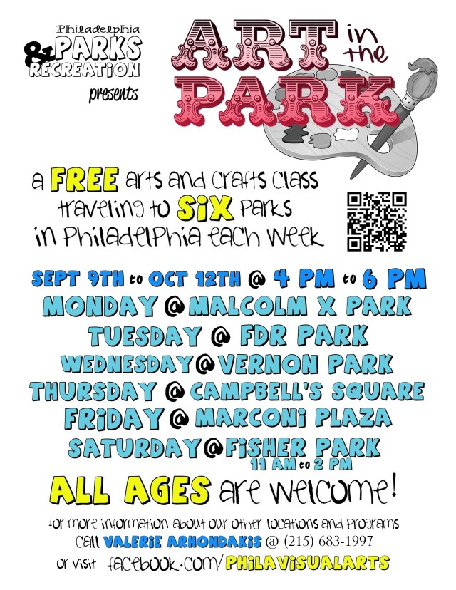 art in park schedule colors
