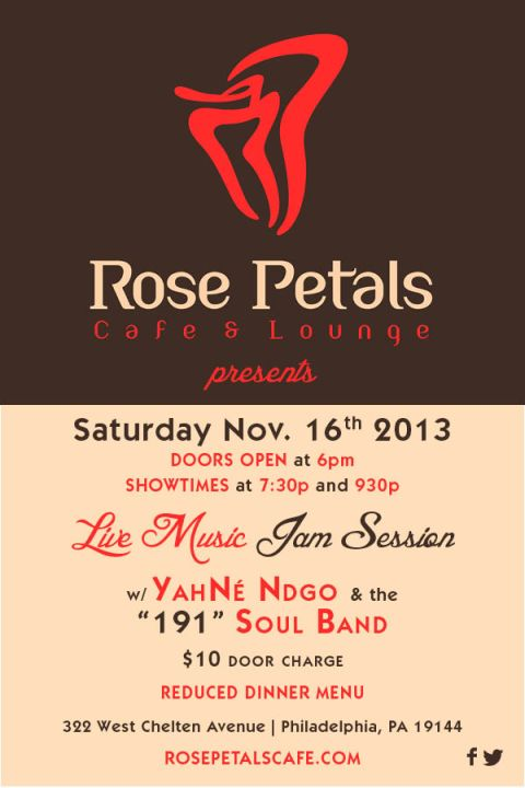 Live Music in Germantown at Rose Petals Cafe: Tonight!