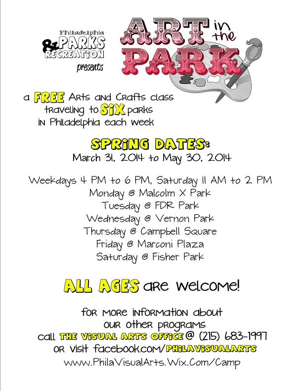Art in the Park begins April 2