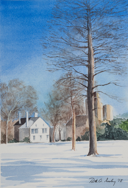 Vernon Park in Snow Painting by Ruth Seeley, 2018
